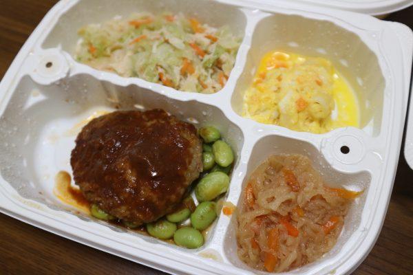 糖質制限食のお弁当(ハンバーグデミグラスソース弁当)