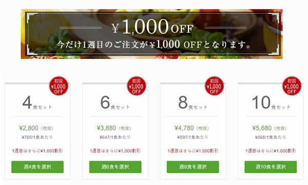 NOSH期間限定1,000OFFキャンペーン
