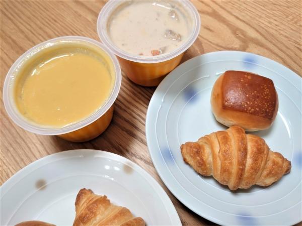 野菜をmotto!!カップスープとパン