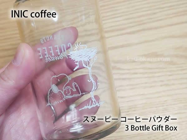 INICコーヒーのボトルの裏側