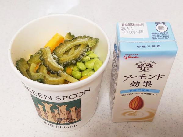 green spoon スムージー #13 Shinrinとアーモンドミルク