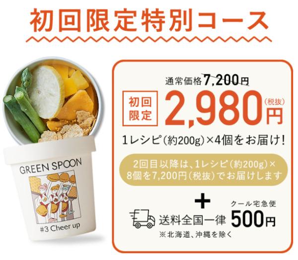 GREEN SPOON スムージーの初回限定特別コース