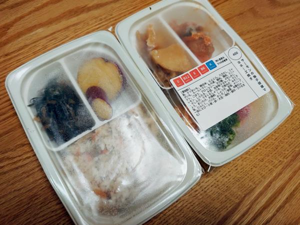 「ママの休食」温め前の冷凍弁当