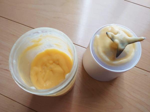 スムーズスムージー(マンゴー味)完成後のボトルの中身