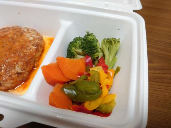 GOFOODゴーフードのトマトハンバーグのお野菜