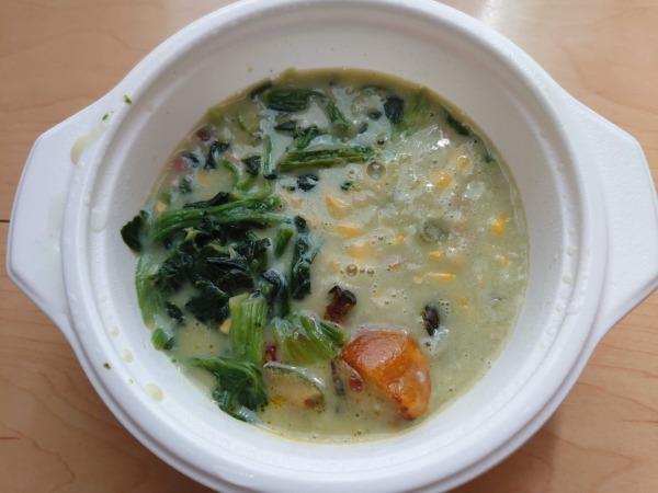 ベジ活スープ食「クリームほうれん草」温め後