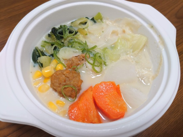 ベジ活スープ食の温め後