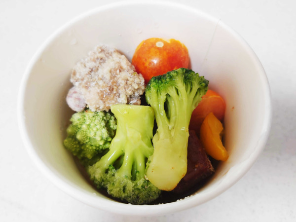 green spoon(グリーンスプーン)スープのabracadabra 地中海野菜のチリコンカン、温め前