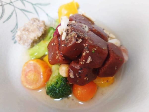 green spoon(グリーンスプーン)スープのabracadabra 地中海野菜のチリコンカン、カップから出したところ